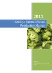 organic broccoli production manual