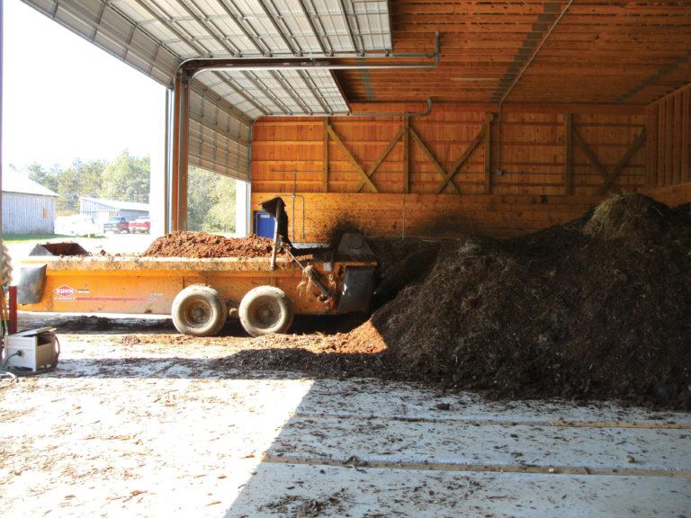 University of New Hampshire compost facility. Photo courtesy of John Aber