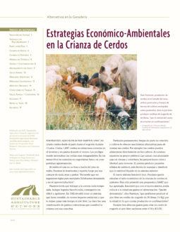 Estrategias Economico-Ambientales en la Crianza de Cerdos