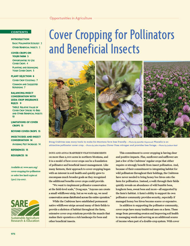 Cover Cropping for Pollinators and Beneficial Insects