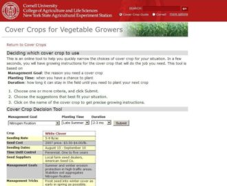 report on filling soil health prescriptions with targeted cover crops