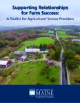 Cover art of Supporting Relationships for Farm Success Toolkit
