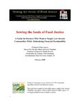 Cover of Sowing the Seeds of Justice Food Manual