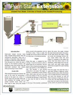 Oil Production Fact Sheets