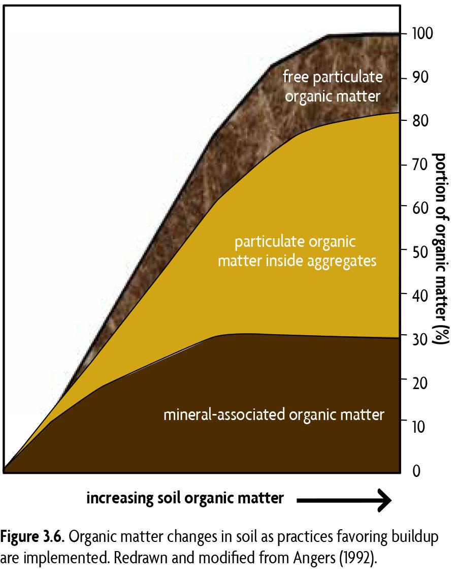 Graph illustrating organic matter changes in soil