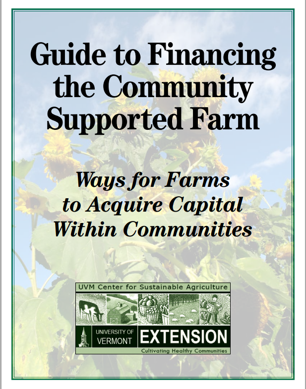 Download the financing the community supported farm guide in PDF fromat