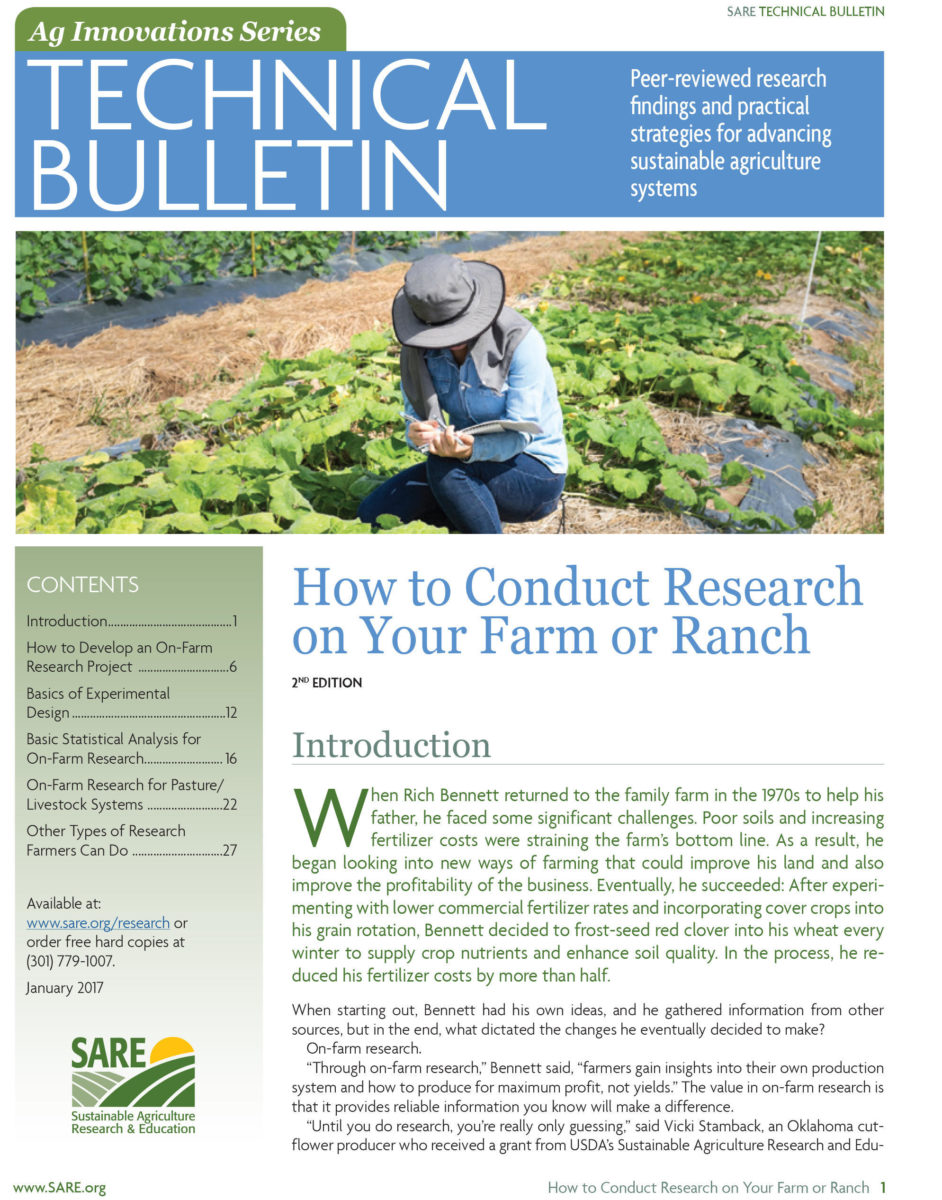 On-Farm Research Cover