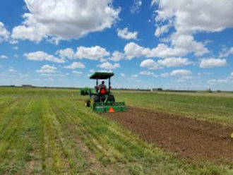 planting cover crops in the Texas High Plains