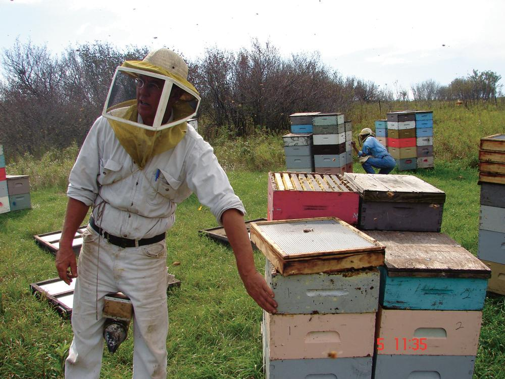 A commercial beekeeper.