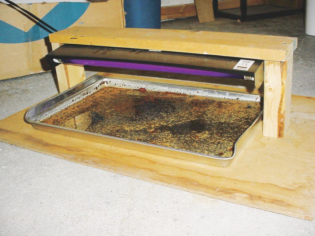 A homemade light trap.