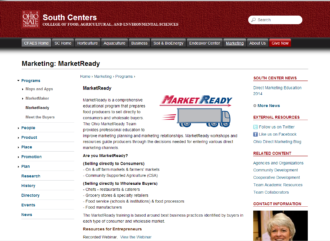 screenshot of MarketReady Educational Resources website