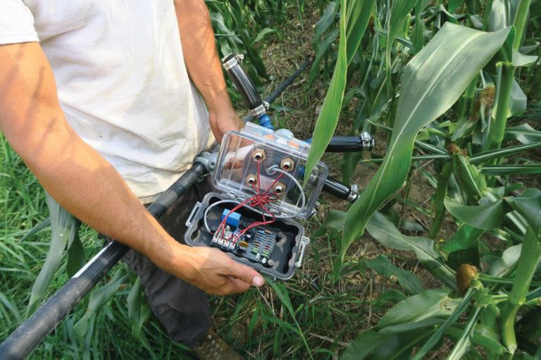 The laser scarecrow that Ken Elliot designed