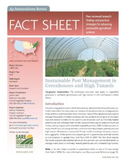 Agricultural innovations series fact sheet