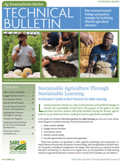 Sustainable Agriculture Through Sustainable Learning Cover