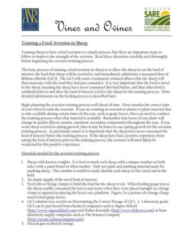 Cover image of Ovines and Vines factsheet