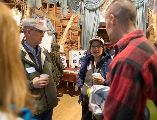 farmers mingling and talking