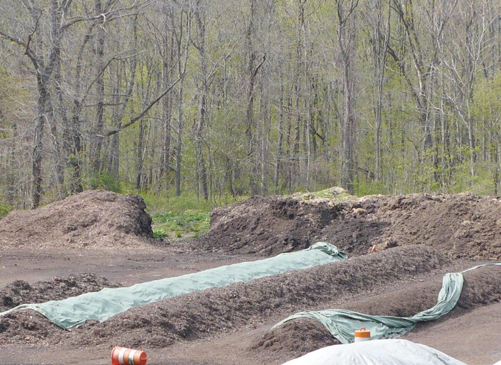On-farm composting facility,