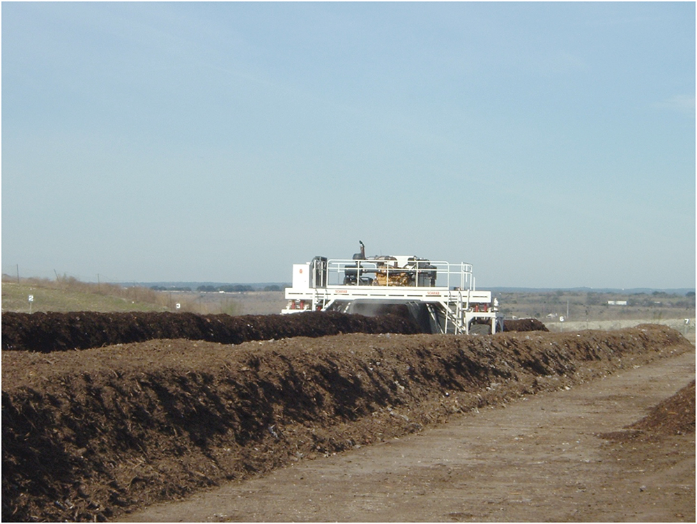 compost windrow