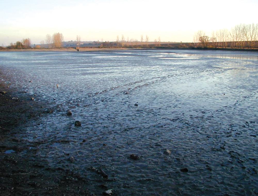 sediment filled basin