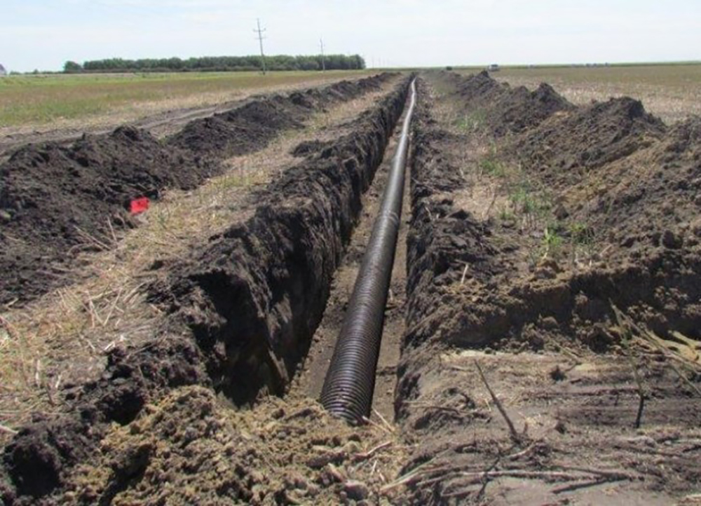 pvc pipe draining irrigation