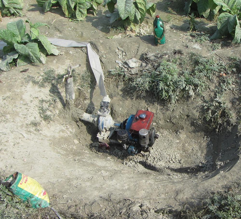 small pump groundwater irrigation