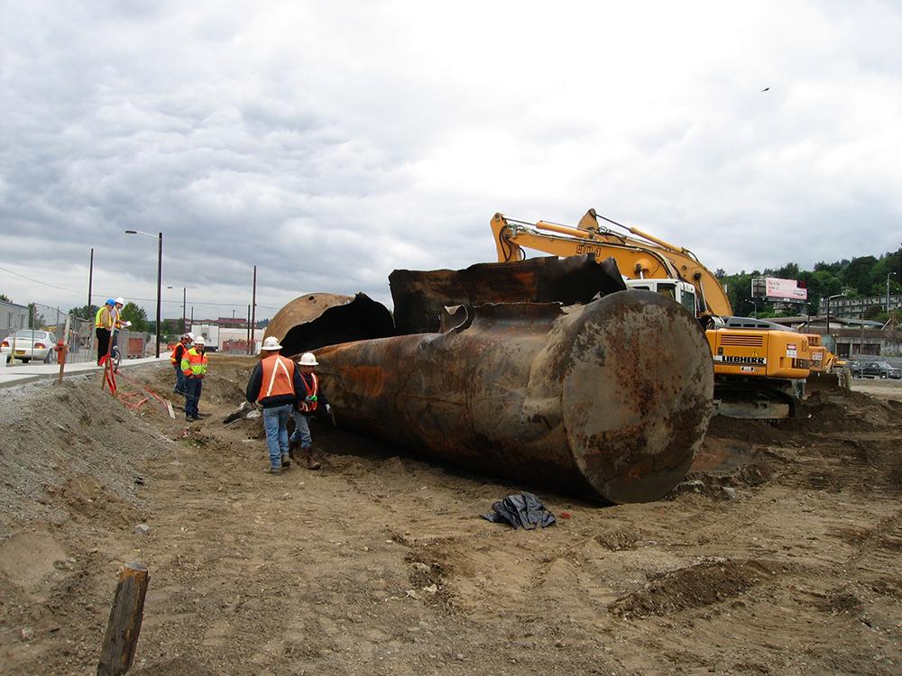 contaminate construction site