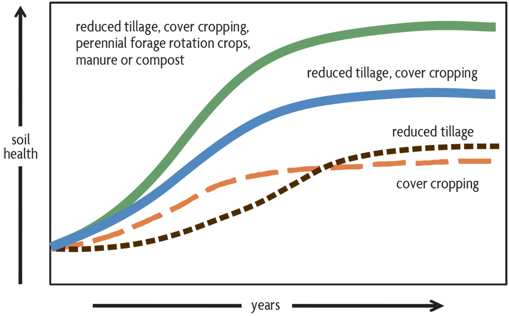 combining practices that promote soil health