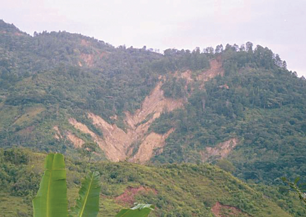 Landslides in central america