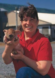 Pennsylvania hog producer Barbara Wiand, who received a SARE grant to explore new ways to market pork, graced the cover of Successful Farming magazine as one of 10 'positive thinkers.'