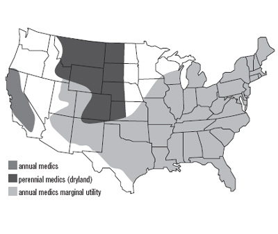 United States Map of Medics Growth