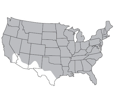 United States Map of Cereal Rye Growth