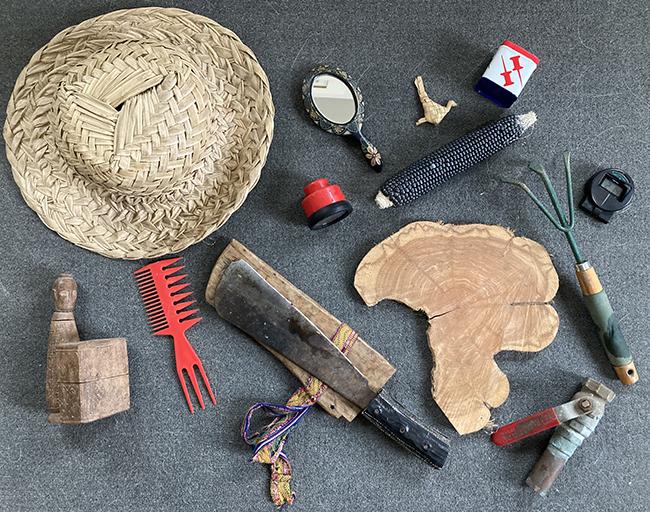random assortment of items on a table
